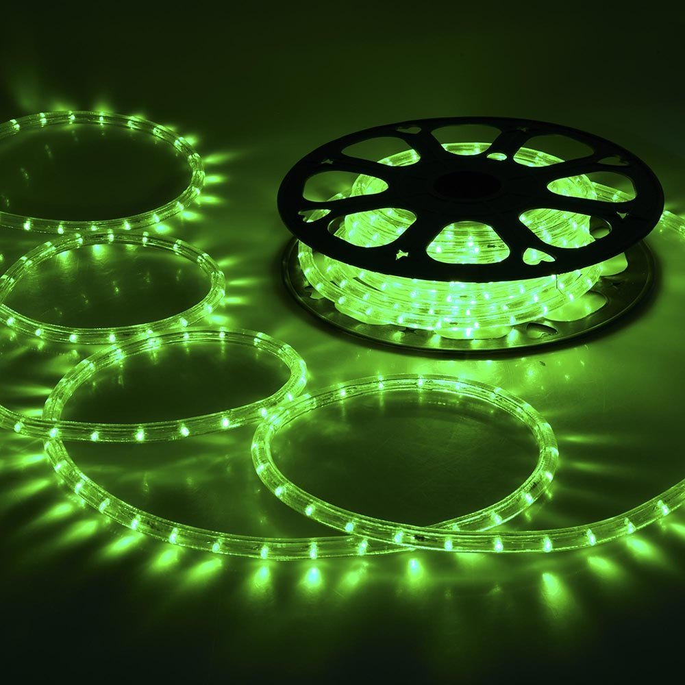 CHIMAERA 150ft Green 2 Wire LED Rope Light Indoor Outdoor Home Holiday Valentines Party Restaurant Cafe Decor