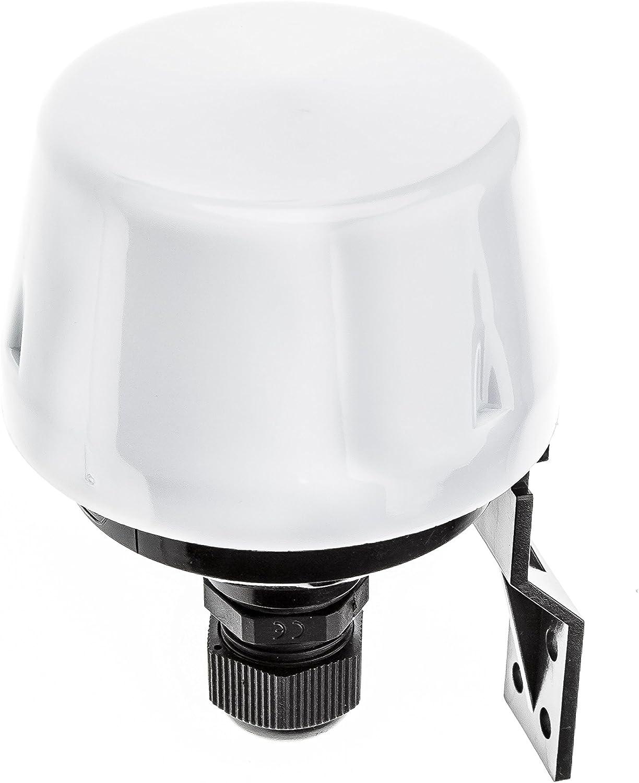 HUBER Twilight 1, Interruptor crepuscular Exterior, Blanco, montado en Superficie, Sensor crepuscular Ajustable, protección contra Salpicaduras IP44