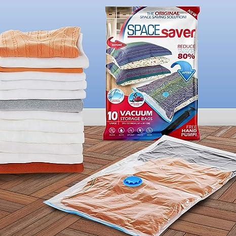 SpaceSaver Premium Reusable Vacuum Storage Bags Jumbo 6 Pack Save 80/% More