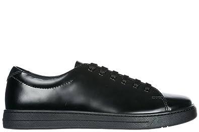 7fbb49ff24b8 Prada Herrenschuhe Herren Leder Schuhe Sneakers Schwarz EU 41.5  4E31161ONJF0002
