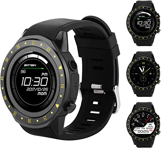 Bluetooth Mens Smartwatch with Heart Rate Blood Pressure Sleep Monitor Pedometer, Touchscreen Round Face Smart Watch Sports Watches Compatible with ...