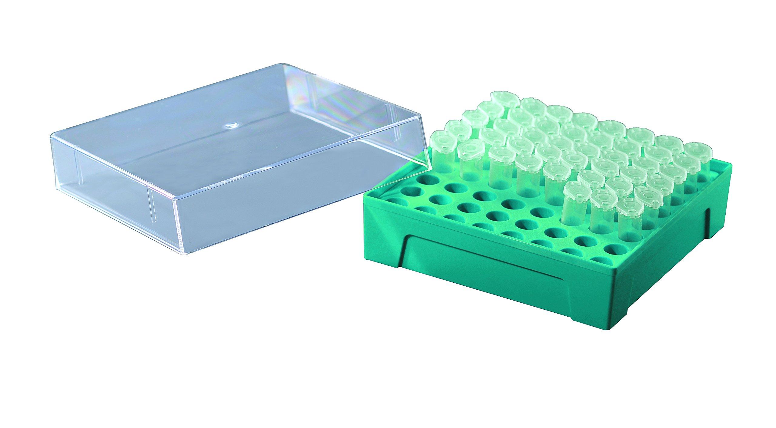 40 Pcs Azzota Microtube Box, 1.5ml/2ml, 8x8 (64 Position), 5pcs/pack, 40pcs/case