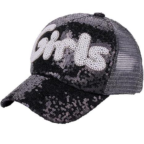 Gorra de mujer con visera de moda Saihui, gorras de verano de malla ajustable para