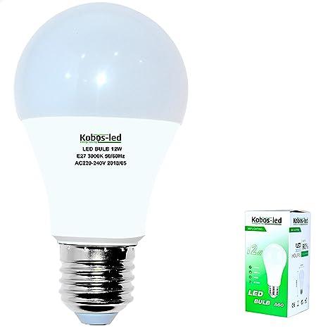 E27 LED Bombilla 3000 K blanco cálido, kobos de LED 1er Pack, 12 W