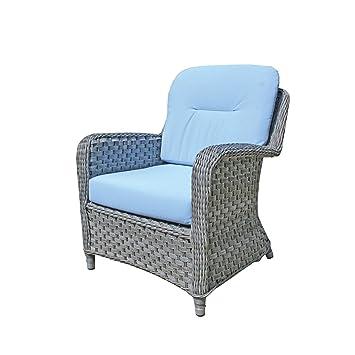 Oxford Fauteuil Lounge Coussin Bleu ciel avec coussin pour fauteuil ...