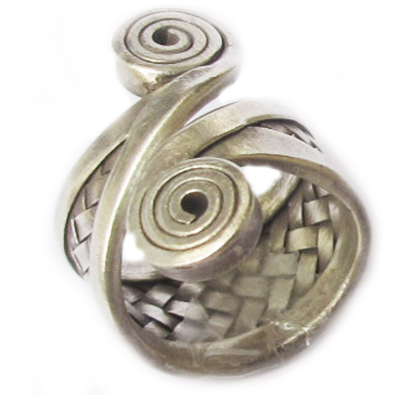 Beautiful Ring Size No 9-10 ADJUSTABLE By Handmade ThaiJewelry Karean RingKarean Silver Ring Weight 11.25 G
