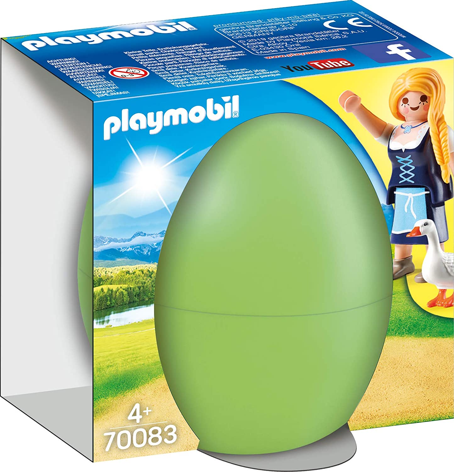 Amazon.com: PLAYMOBIL 70083 Easter Egg - Maiden with Geese ...