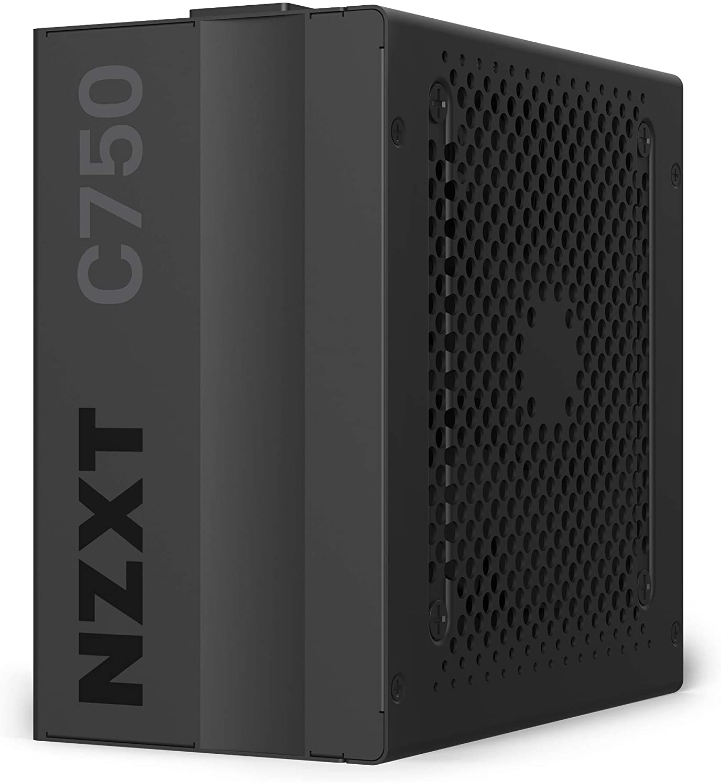 NZXT C750 - NP-C750M - 750 Watt PSU - 80+ Gold Certified - Hybrid Silent Fan Control - Fluid Dynamic Bearings - Modular Design - Sleeved Cables - ATX Gaming Power Supply - 10 Year Warranty