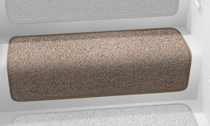 Prest-O-Fit 5-0072 Decorian Step Huggers For RV Stairs Butter Pecan Brown 13.5 In x 23.5 In.