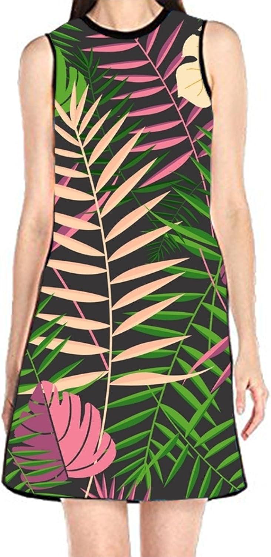 aportt Shift Dress Sleeveless Tank Dresses Wandering Women Printed Beach Suit for Women
