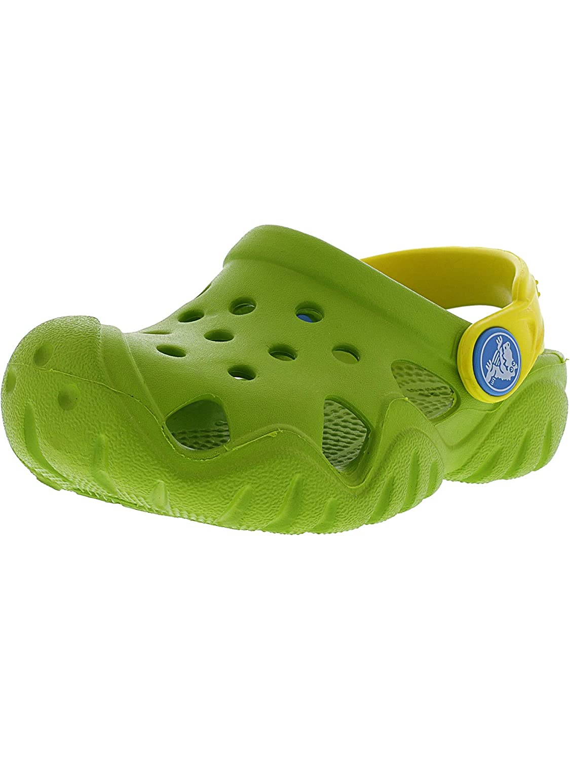 18826256a66b8 Crocs Kids Swiftwater Clog Ltd Volt Green/Lemon Clogs - 12M: Crocs ...
