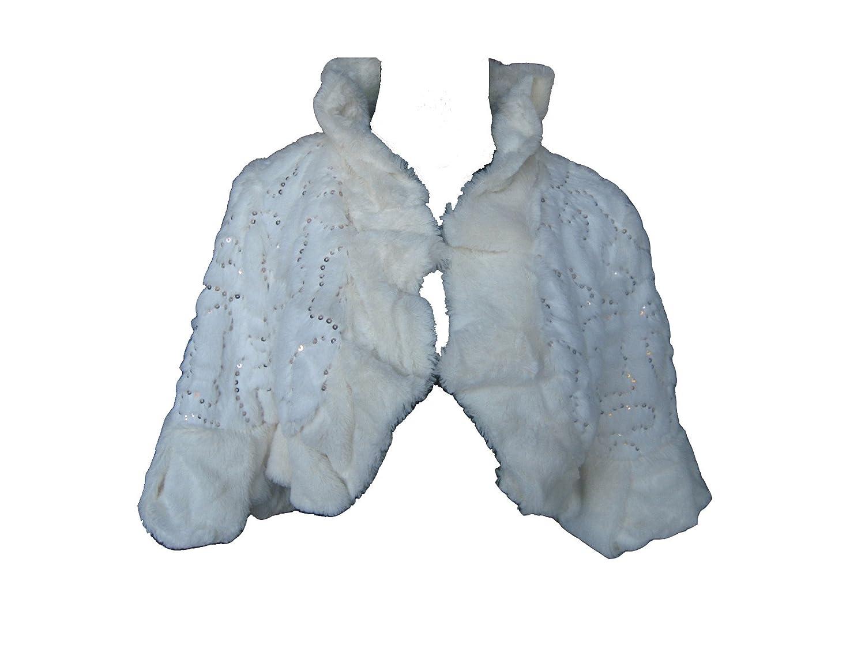 Ivory Faux Fur Wedding Bridal Bridesmaids Jacket Bolero Stole Wrap ...