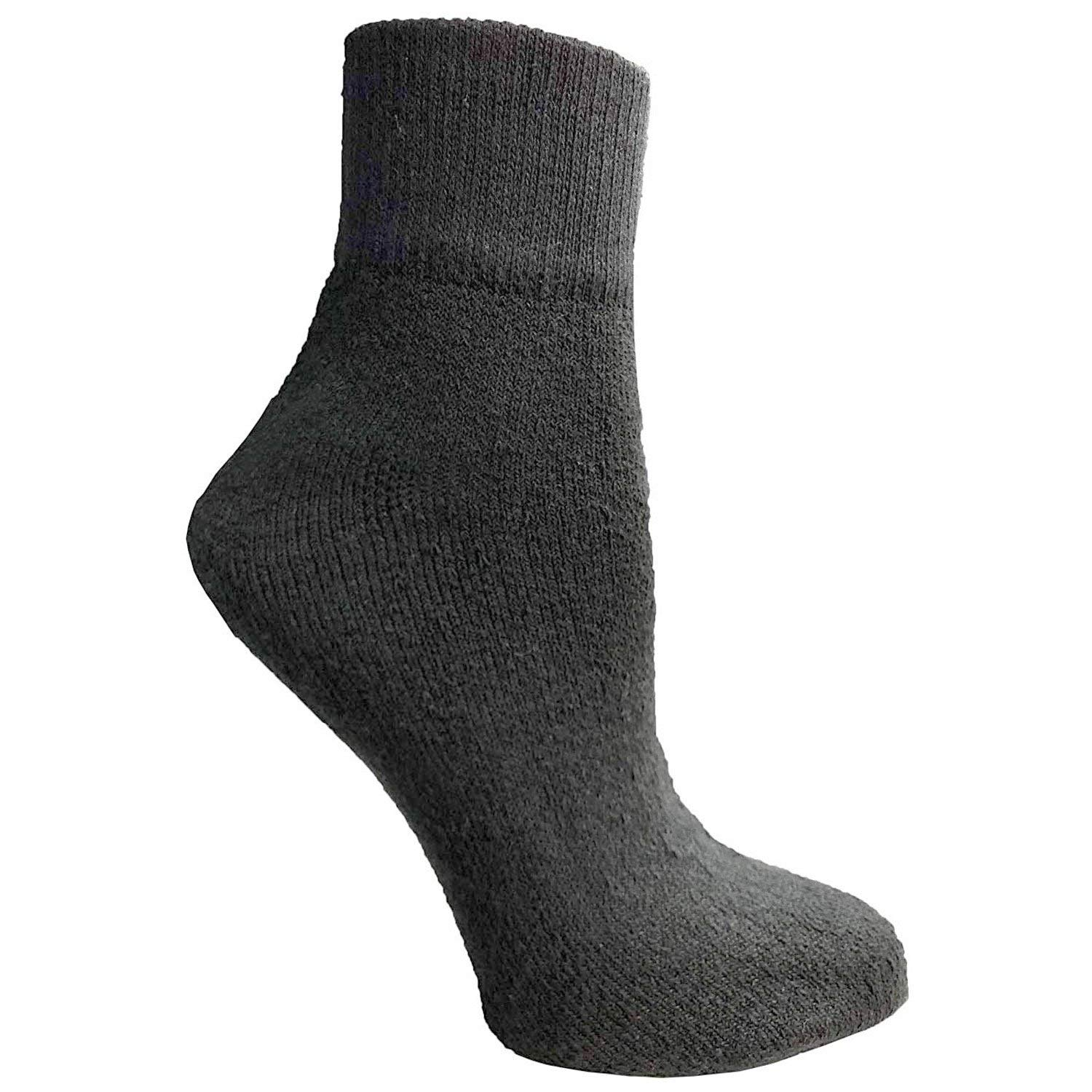 Physicians Approved Womens & Junior Girls/Boys Diabetics Crew Ankle Socks Cotton - 9-11 - Navy - 240 Pack