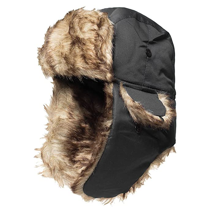 Winter Hat Warm Cap Ushanka Russian Trooper Trapper Hunting Aviator Cold  Weather Ear Flap Chin Strap a476eb34383