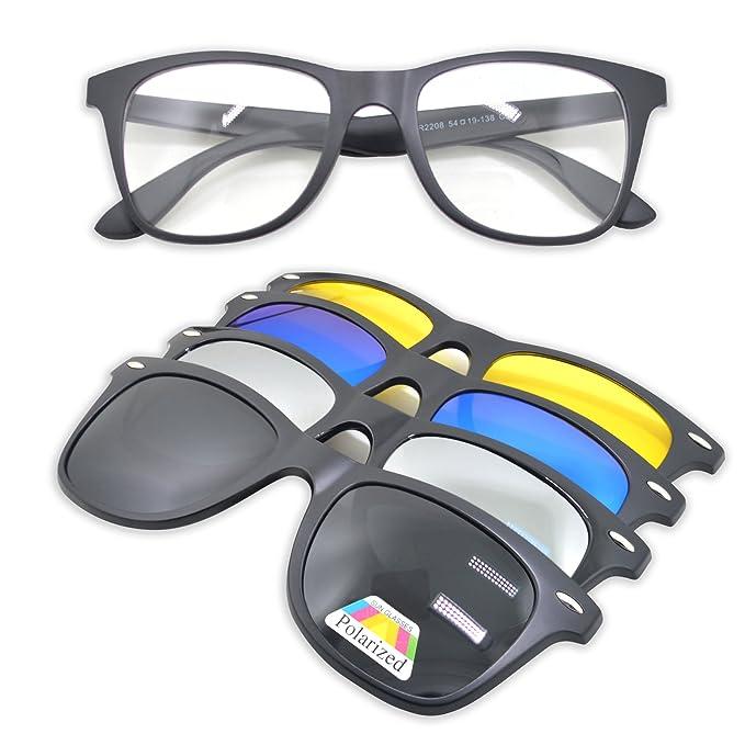 WHCREAT Gafas de sol polarizadas con clip magnético Unisex ...
