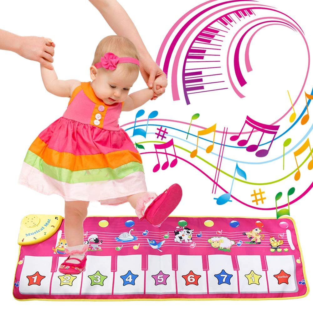 FUGZ Piano Mat Toys for 1-8 Year Old Girls Gift, Kids Electronic Music Carpet Toys for Age 1, 2, 3, 4, 5, 6, 7, 8 Year Old Boys Girls by FUGZ