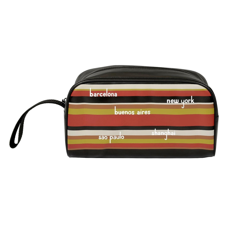 Trousse de toilette -Bayadère noir - multicolore- DLP - Derrière la porte D060-V020650