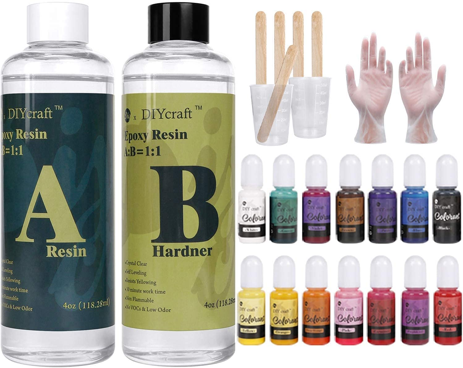 Epoxy Resin with Tools Kit