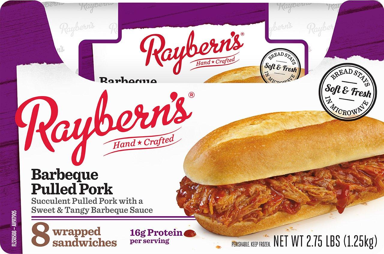Raybern's BBQ Pulled Pork Sandwich, 8 per case