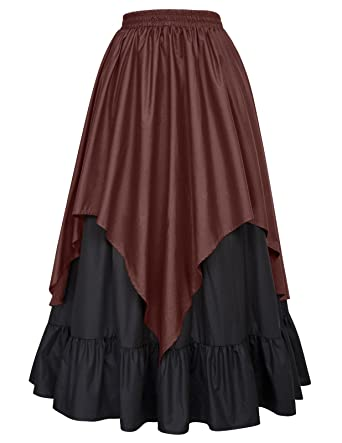 4692281f9 Amazon.com: Belle Poque Womens Renaissance Gothic Victorian Skirt Bustle  Style BP000467: Clothing