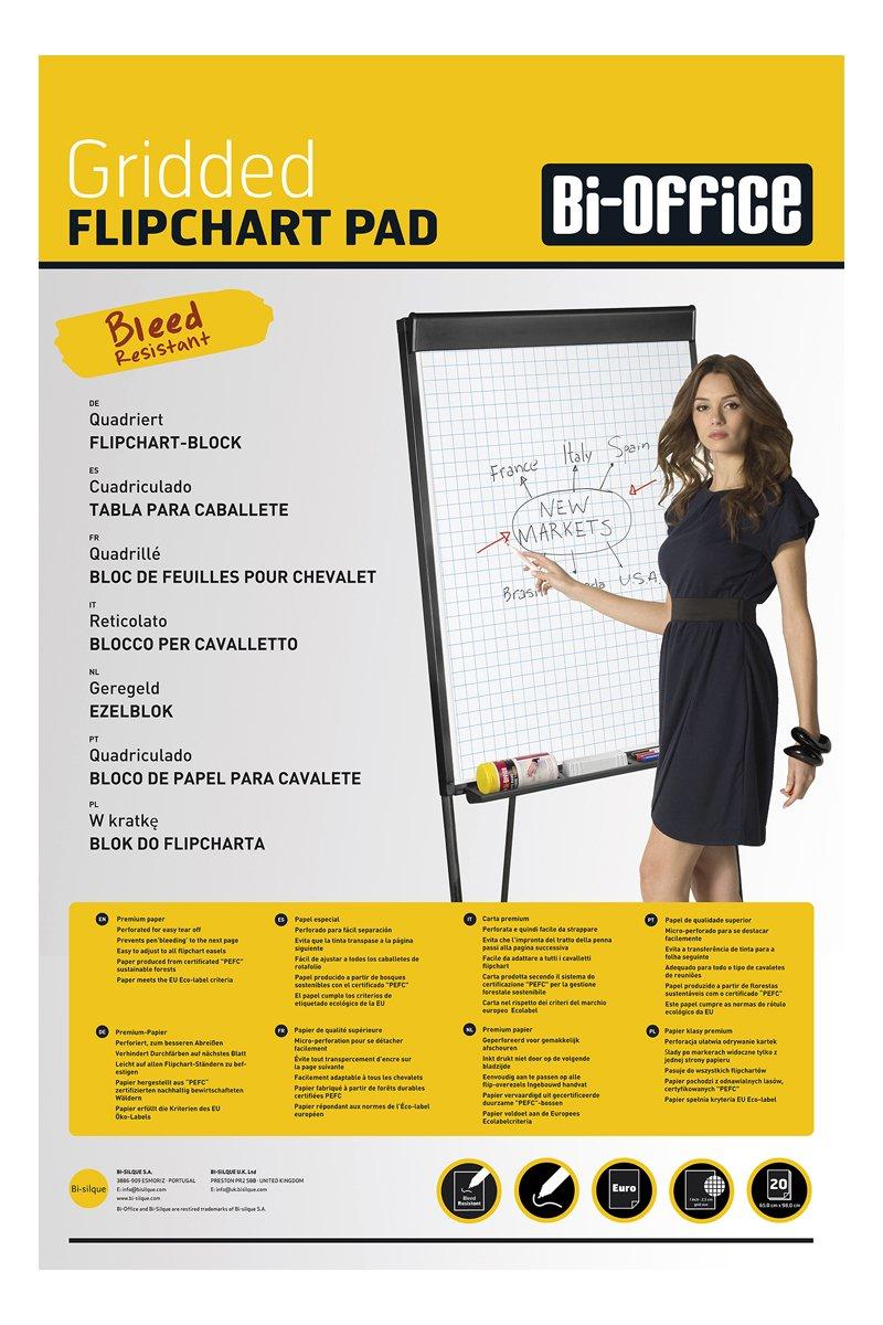 Bi-Silque FL0325203Bi-Office Flipchartpapier Checked