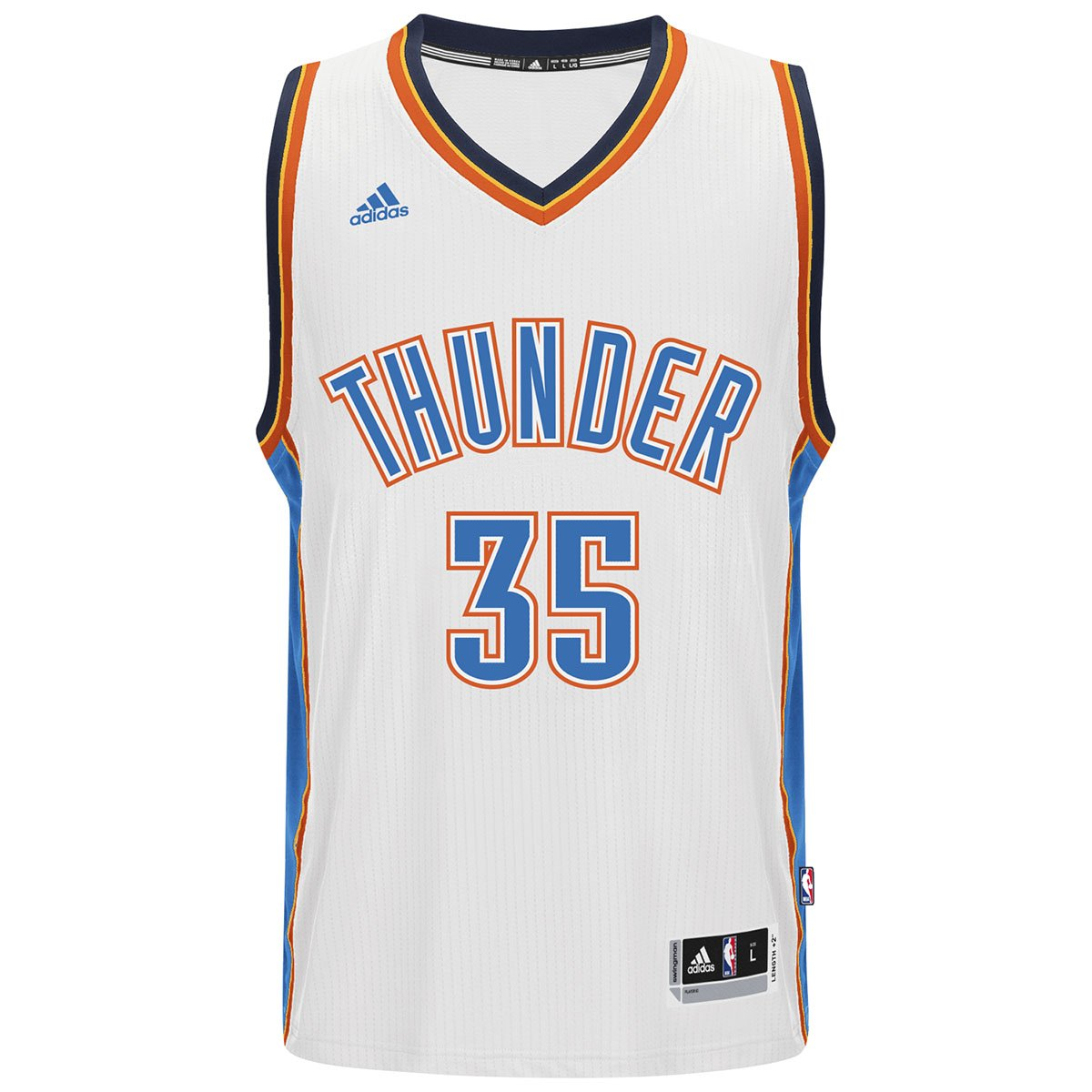 sale retailer 67a5f 4f6f0 30%OFF Oklahoma City Thunder Kevin Durant White Adidas ...