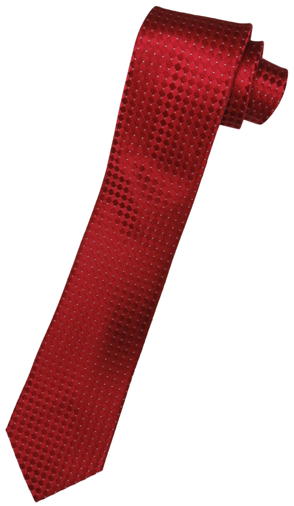 Donald Trump Neck Tie Red and Silver Diamond Pattern