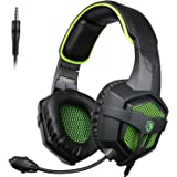 SADES SA-807 Xbox One S PS4 Pro PC Gaming Headset Game Headphones with Microphone for Laptop Mac Tablet