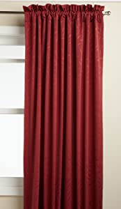 LORRAINE HOME FASHIONS Whitfield 52-inch by 63-inch Window Panel, Wine