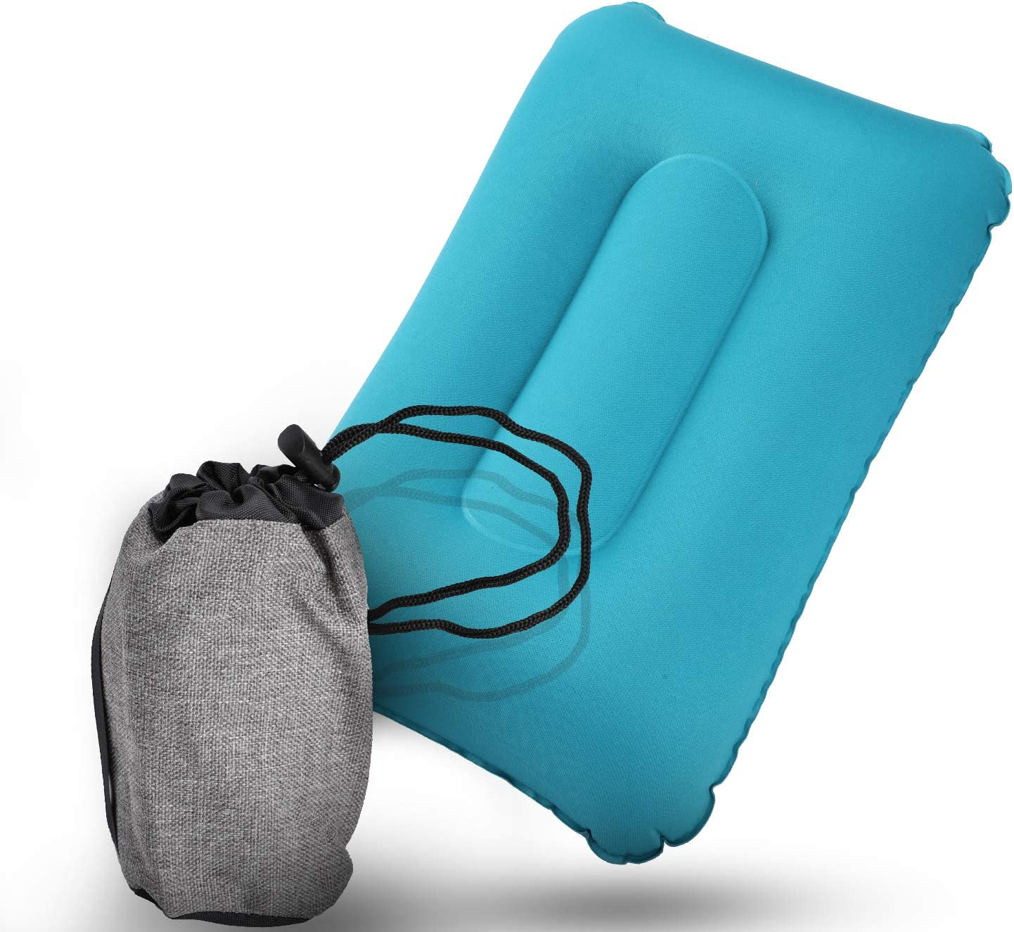 BFVV Ultralight Inflatable Pillow Backpacking Camping Air Pillows Compressible for Neck & Lumbar Support While Hiking, Airplane & Road Trip