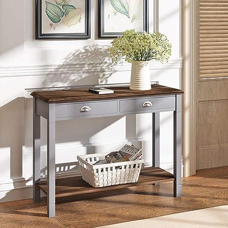 Generic - Mesa Consola con cajón Grande y cajón para café, tocador ...