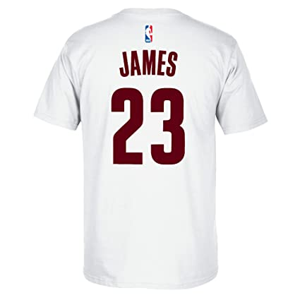 Amazon.com : Lebron James Cleveland Cavaliers White Jersey Name ...