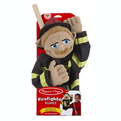 Melissa & Doug Firefighter Puppet with Detachable Wooden Rod for Animated Gestures: Toys & Games