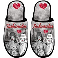 Midsouth Products I Love Lucy Slippers Fashionistas - One Size Fits Most Black