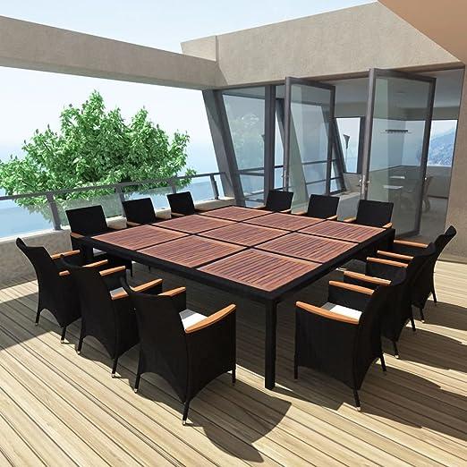 SENLUOWX Conjunto de Comedor de Exterior para Jardín Moderno ...