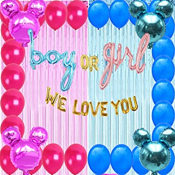 Large Mickey Mouse Number 1 Foil Balloons Gender Reveal Baby shower Party Baloon