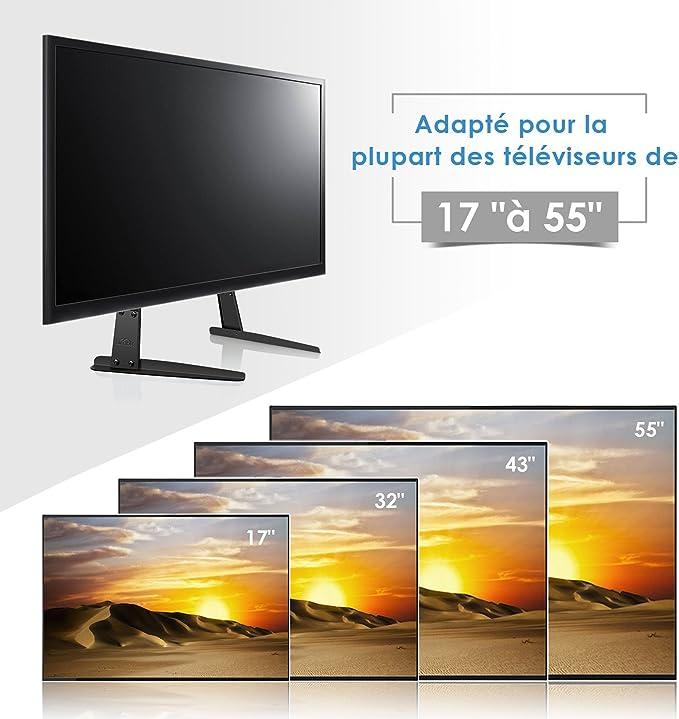 SIMBR Base TV con 4 Alturas Pedestal TV para Pantalla 17-55 ...