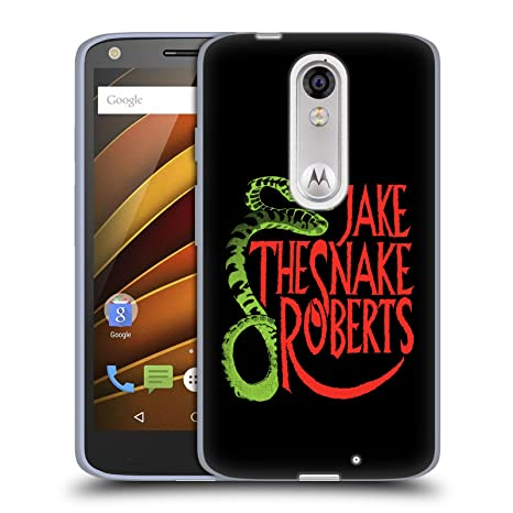Official WWE Snake Pro Jake The Snake Roberts Soft Gel Case for Droid Turbo 2 /