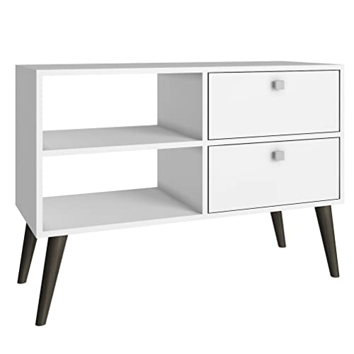 Manhattan Comfort Dalarna 35 TV Stand in White