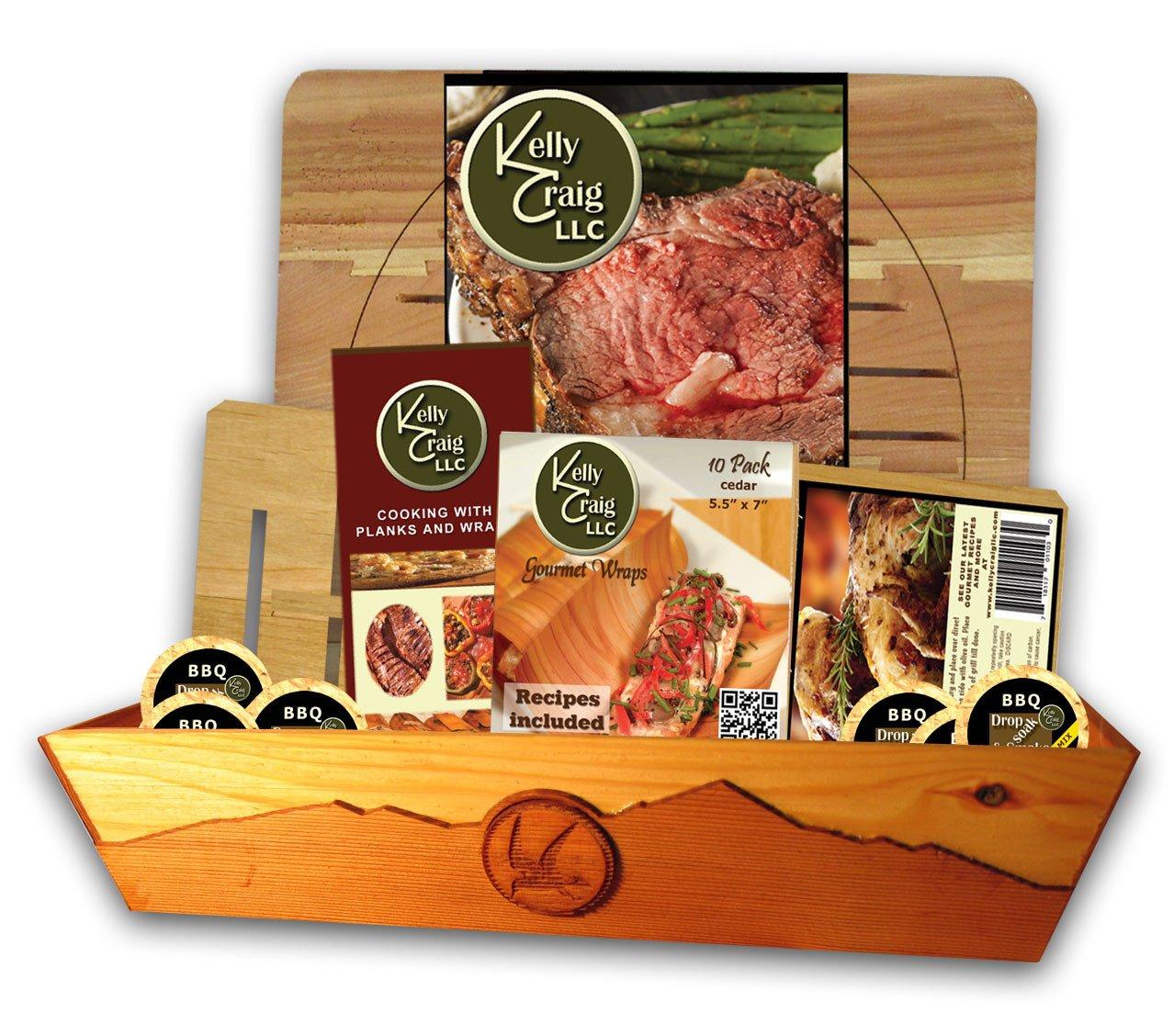 Kelly Craig KC-12-001 BBQ Griller Set with Cedar Tray