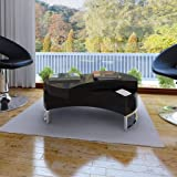 vidaXL Shape-Adjustable Coffee End Table Storage Side Table High Gloss Black