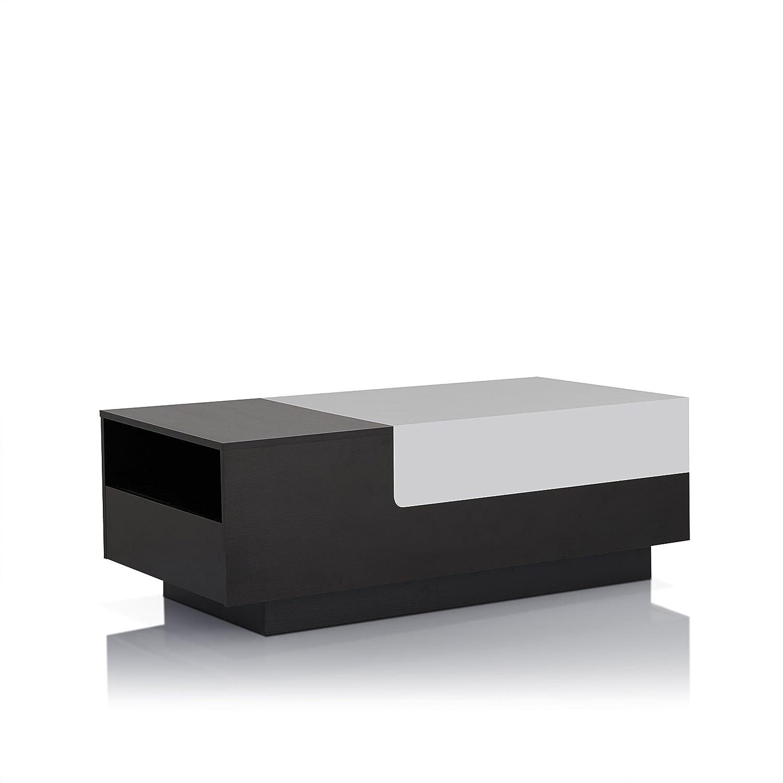 Amazon ioHOMES Carone Modern Coffee Table Black White