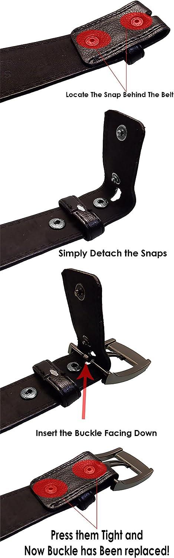 3X Large Navy LUNA Mens Premium Quality Dress Stitch Buckle Belt