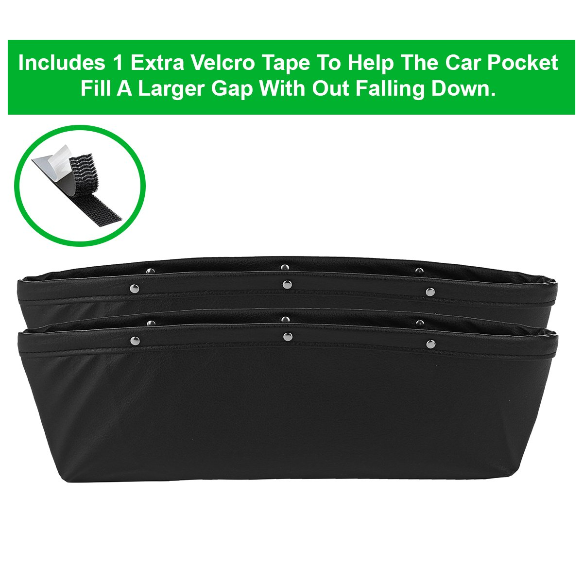 Car Seat Side Drop Caddy Catcher Car Interior Accessories Car Pocket Organizer lebogner 2 Pack Car Seat Gap Filler Premium PU Full Leather Seat Console Organizer