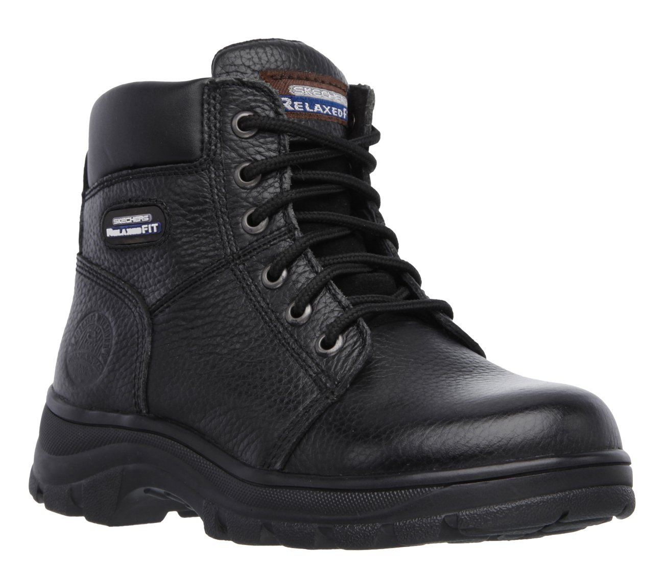 Skechers Work Relaxed Fit Workshire Fitton Womens Soft Toe Boots Black 7 by Skechers (Image #1)