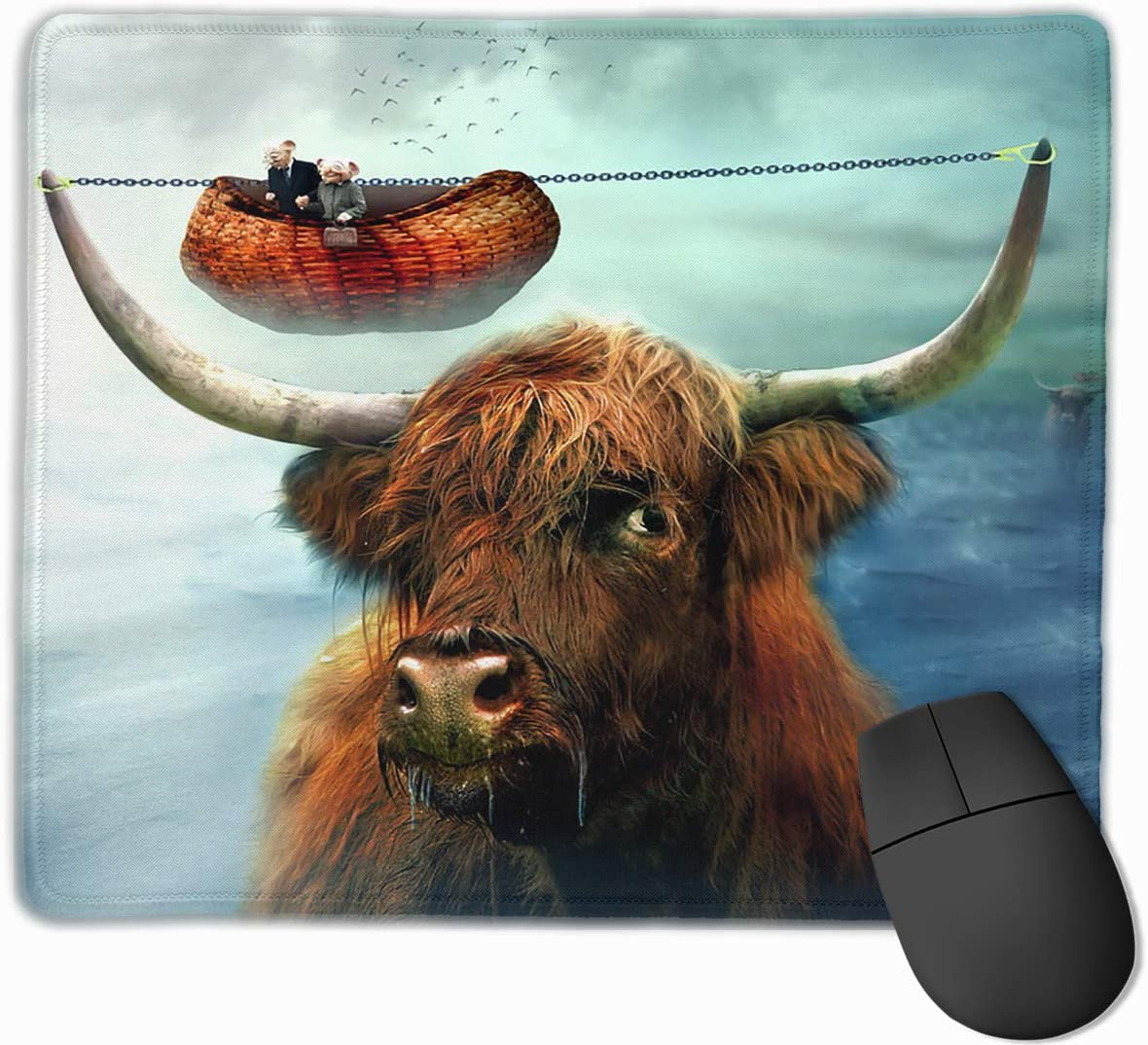Yuotry Smooth Mouse Pad Pisces Logo Mobile Gaming Mousepad Work Mouse Pad Office Pad