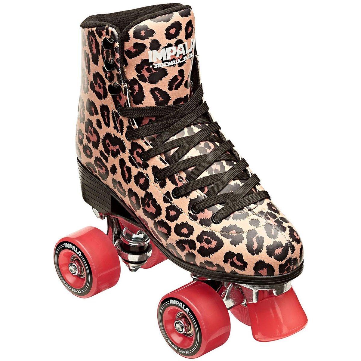 Impala Sidewalk Womens Roller Skates - Leopard/Red - 9