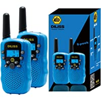 DILISS Walkie Talkies for Kids Voice Activated Walkie Talkies for Adults and Kids 3 Mile Range 2 Way Radio Walkie Talkies Built in Flash Light (Blue,2 Pack)