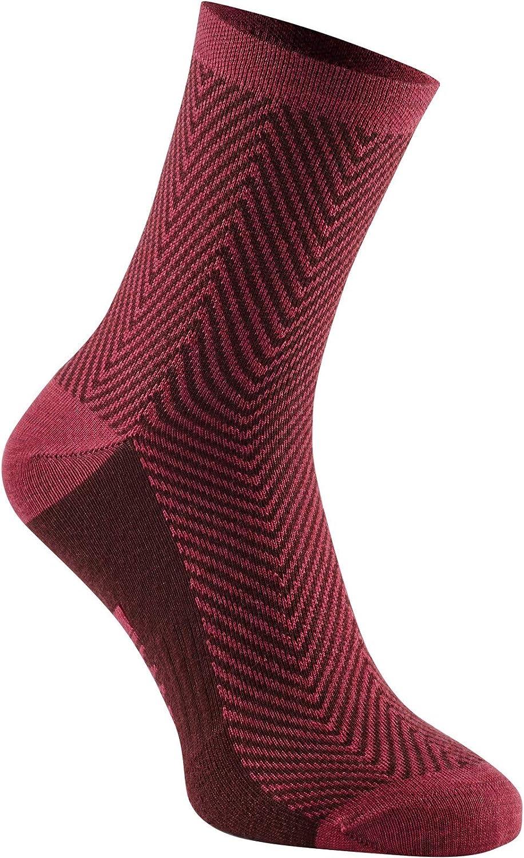 Madison Assynt merino mid sock argyle classy burgundy medium 40-42