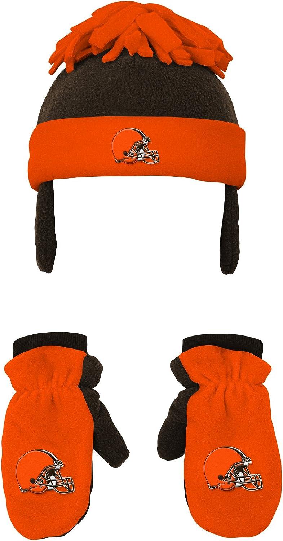 Outerstuff NFL Toddler 2 Piece Winter Set Fleece Hat and Mittens